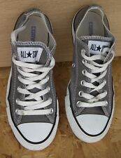 CONVERSE All Star IJ794 Charcoal Grey/White Lo Top Trainers Sneakers Size UK 5
