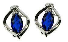 Sapphire Marquise Cut Stud Earrings ZDSE1928
