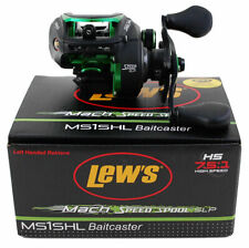 LEW'S MACH SPEED SPOOL SLP MS1SHL 7.5:1 LEFT HAND BAITCAST REEL NIB