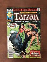 Tarzan #6 (1977) 9.2 NM Marvel Key Issue Bronze Age Comic Book Newsstand