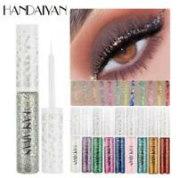 HANDAIYAN Waterproof Eye Shadow Liquid Glitter Eyeliner Makeup Eyeshadow UK