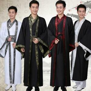 Chinese Ancient Costume Tang Suit Men Hanfu Dress Dynasty Cosplay Party Outfits