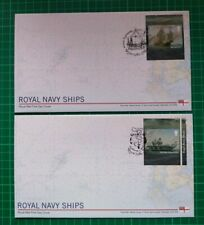 2019 Royal Navy Ships Self Ad Mary Rose & HMS Queen Elizabeth Pair of FDC