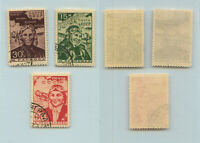 Russia USSR 1939 SC 718-720 used. g288