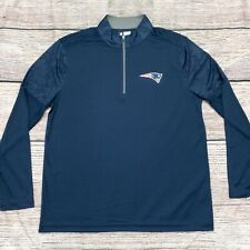 New England Patriots Long Sleeve 1/4 Zip Pullover Shirt NFL Team Apparel New