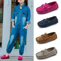 Kids Boys Girls Toddler Slip On Oxford Suede Flat Loafers Casual Shoes Sneakers