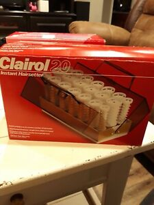 Brand New Vintage Clairol 20 Instant Hairsetter C 20 S-Z Hot Rollers With Clips