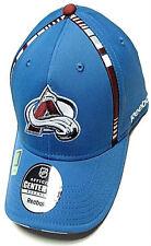 Colorado Avalanche NHL Reebok Blue Center Ice Hat Cap Stripe Flex Fitted L/XL