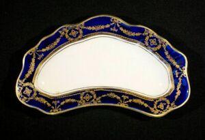Beautiful Early Alfred Meakin Bleu De Roi Kidney Shaped Side Plate