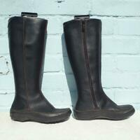 TIMBERLAND Leather Boots Size Uk 4 Eur 37 Womens Ladies Sexy Black Boots