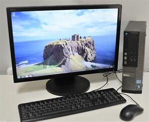"Dell OptiPlex 390 SFF + Monitor 20"" Quad i5 8GB DDR3 120 Gb SSD Windows 10 Wifi"