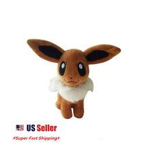 """New Pokemon Pocket Monster Eevee Plush Toys Soft Stuffed Doll 8"""" Doll US Seller"""
