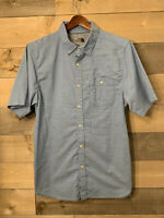 The North Face Mens Light Blue Short Sleeve Button Down Shirt Size Large