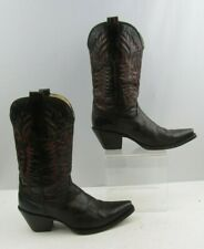 Ladies Corral Burgundy Leather Cowgirl Boots Size : 7.5 M