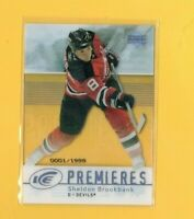 D19164  2007-08 Upper Deck Ice #103 Sheldon Brookbank ROOKIE #01/1999