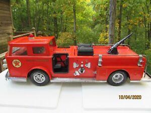 VINTAGE 1960'S BUDDY L TEXACO FIRE CHIEF FIRE TRUCK U.S.A MADE!
