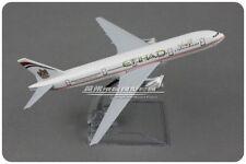 16CM ETIHAD BOEING 777 Passenger Airplane Plane Metal Diecast Aircaft Model
