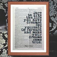 Ralph Waldo Emerson preventivo DIZIONARIO pagina preventivo Art Print-LIBRI Regalo