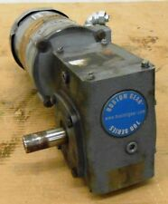 BOSTON GEAR MOTOR, FUTF-B, 1/2 HP, WITH WORM GEAR REDUCER UNKNOWN SIZE, RIGHT