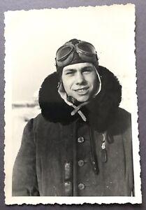 Porträt Bordmechaniker Junkers Ju 52 1939 Polenfeldzug 10 X 7 cm