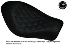 BLACK VINYL DIAMOND CUSTOM FITS HARLEY SPORTSTER IRON 883 SOLO SEAT COVER ONLY