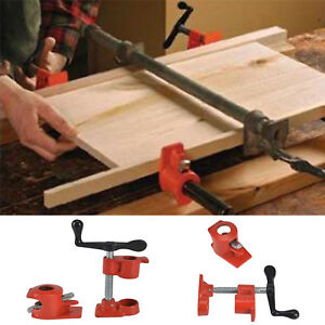 "2x Heavy Duty Quick Release 1/2""Wood Gluing Pipe Clamp For Woodworking Cast Iron"