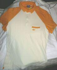 """Adidas Originals Men's Polo T-Shirt. MANGO & OFF WHITE COLOUR. MEDIUM 36"""" BNWT"""