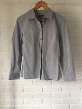 Sportscraft Cotton Grey Stripe Button Up Long Sleeve Work Business Shirt Sz 10