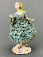 Vintage Porcelain Figurine 'Hal-SeyFifth' Girl with Dress 'Dresden Like'