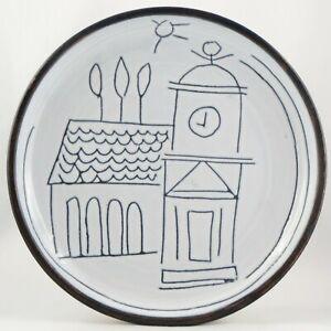 RARE Assiette JACQUES INNOCENTI Céramique VALLAURIS design 50/blin/picasso...