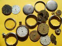 Vintage Ingersoll Yankee Pocket Watch Dials & Case Parts & Pcs  Lot# G182