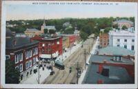 VT0044 no Vintage Postcard....Vermont St Albans Smith Street....Used..