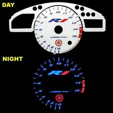 Yamaha YZF R1 2004 2005 2006 White Face Glow Gauges Dials Plasma MPH KMH Color