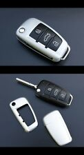 Audi Remote Flip Key Cover Case Skin Shell Cap Fob Protection Hull S Line Silver