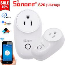 Sonoff S26 US Plug TFTTT WIFI Smart Power Socket Wireless Time For Alexa Google