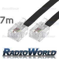 7M Metre RJ11 TO RJ-11 Cable Broadband Modem / Internet Lead Long DSL Black