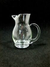 "Small Clear Glass Syrup Pitcher Measure 4"" Tall"