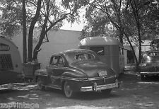 Vintage RARE 1940s B&W Photo (Motor Home Trailer & Old Car)