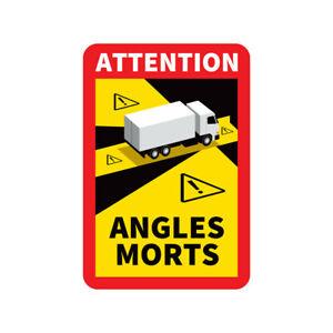 X3 Adhésifs Stickers Angles Morts Poids-Lourds Conforme Règlementation CE