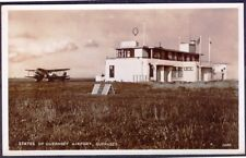 GUERNSEY Airport. 1950s Vintage Real Photo Postcard. Free UK post