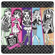 """Monster High 10"""" Lunch Dinner Plates 8 Per Package Birthday Party Supplies"""