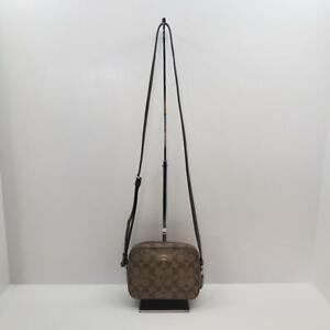 Coach 91677 Mini Camera Bag Signature Canvas Brown/Tan Shoulder & Crossbody Bag