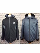 ADIDAS ORIGINALS UK L GREY BLACK STREET RUN REVERSIBLE ZIP HOODY HOODIE RRP £90