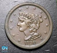 1850 Braided Hair Half Cent --  MAKE US AN OFFER! #B3616