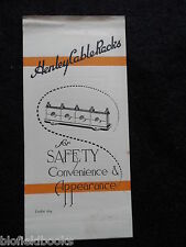 Vintage Electrical Trade Leaflet for Henley Cable Racks - c1926 - Cleats/Washers