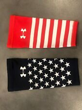 Under Armour USA Stars & Stripes Compression Running Arm Sleeves - EUC
