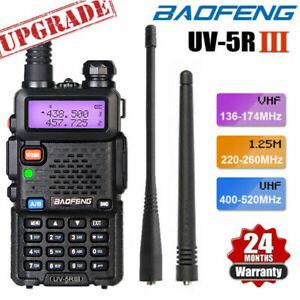 BAOFENG UV-5R III Tri-Band Walkie Talkie Long Range FM Two Way Radio + Headset