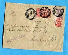 1924 PUBBLICITARI c.50 SINGER + EXPR.FLO.c.60 ann.GENOVA, 24.11.24   (268654)