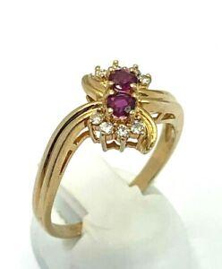 Ring  Rubin & Brillant  585er Gold   # 53