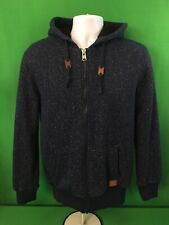 Buffalo David Bitton Mens Full Zip Hoodie Sweatshirt Sz M Medium Sherpa Lined